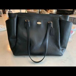 Black Coach Diaper Bag Large